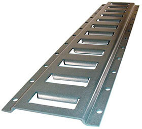 SURFACE MOUNTED E TRACK 10 FT SECTION