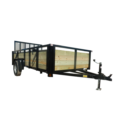 Quality Steel High Wood Side Utility / Landscape (Single Axle ...